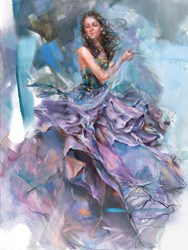 Woven Dreams I by Anna Razumovskaya - Stretch Canvas sized 18x27 inches. Available from Whitewall Galleries